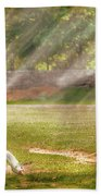 Farm - Geese -  Birds Of A Feather - Panorama Beach Towel