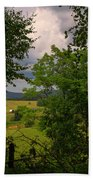 Farm Before The Storm Beach Towel