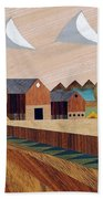Farm By Ripon -marquetry-image Beach Towel