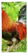 Farm - Chicken - The Rooster Beach Towel