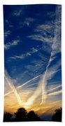 Farm Evening Skies Beach Towel by Rick Morgan