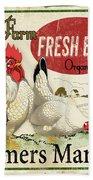 Farm Fresh Eggs-b Beach Towel