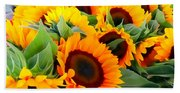 Farm Stand Sunflowers #8 Beach Towel
