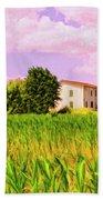 Farmhouse In Tuscany Beach Towel