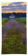 Farmhouse Sunrise - Arkansas - Landscape Beach Towel