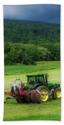 Farming New York State Before The July Storm 02 Beach Towel