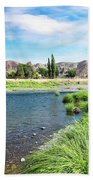 Farmland Along John Day River Beach Towel