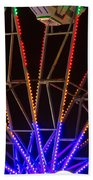 Farris Wheel Close-up Beach Towel