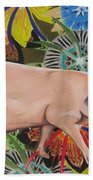 Fashionista Pig Beach Towel
