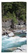 Fast River Beach Towel