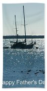 Father's Day Card - Peaceful Bay Beach Towel