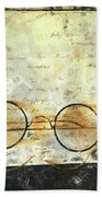 Father's Glasses Beach Towel