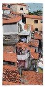 Favela In Salvador Da Bahia Brazil Beach Towel