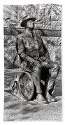 Fdr Memorial Sculpture In Wheelchair Beach Towel