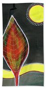 Feather In The Night Beach Towel