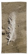Feather Print Beach Sheet
