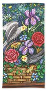Feathered Frolic Beach Towel