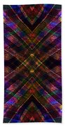 Feathered Stained Glass Beach Towel
