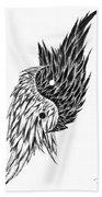 Feathered Ying Yang  Beach Towel