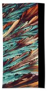 Feathers Of Crystal 2 Beach Towel