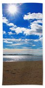 February Blue Beach Towel