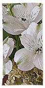 February Flowers Beach Towel