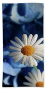 Feeling Blue Daisies Beach Towel