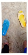 Feet Around The World #23 Beach Sheet