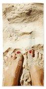 Feet Around The World #4 Beach Towel