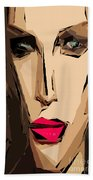 Female Expressions Xiv Beach Towel