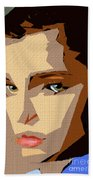 Female Expressions Xlviii Beach Towel