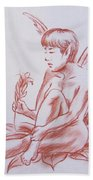 Female Fantasy 1 Beach Towel