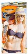 Female Performing Artist Beach Towel