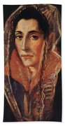 Female Portrait Beach Towel
