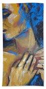 Feminine - Portrait Of A Woman Beach Sheet