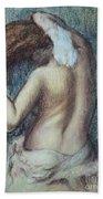 Femme A Sa Toilette Beach Towel by Edgar Degas