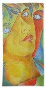 Femme Aux Trois Visages Beach Towel