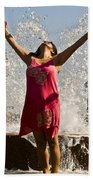 Femme Fountain Beach Towel by Al Powell Photography USA