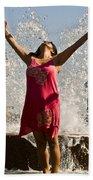 Femme Fountain Beach Towel by Al Powell Photography USA