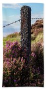Fence Post In The Peak District Beach Towel