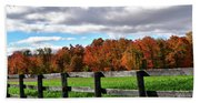 Fences, Fields And Foliage Beach Towel
