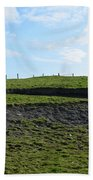 Fencing Along A Field Above The Cliff's Of Moher Beach Towel