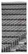 Fenway Park Red Chair Number 21 Bw Beach Towel