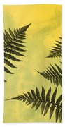 Fern Leaves 2 Beach Towel