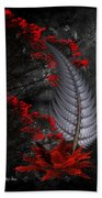 Silver Fern  Beach Towel