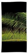 Fern-palm Abtract Beach Towel