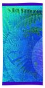 Fern Strip 5 Blue Green Beach Towel