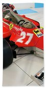 Ferrari 126ck Front Right Museo Ferrari Beach Towel