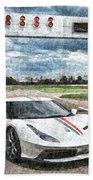 Ferrari 458 Beach Towel