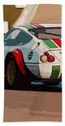 Ferrari Daytona - Italian Flag Livery Beach Towel